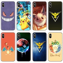 For Xiaomi Mi A1 A2 A3 5X 6X 8 9 9t Lite SE Pro Mi Max Mix 1 2 3 2S cute Pokemons Blue Guide Eevee Pokeballs Silicone Shell Case(China)