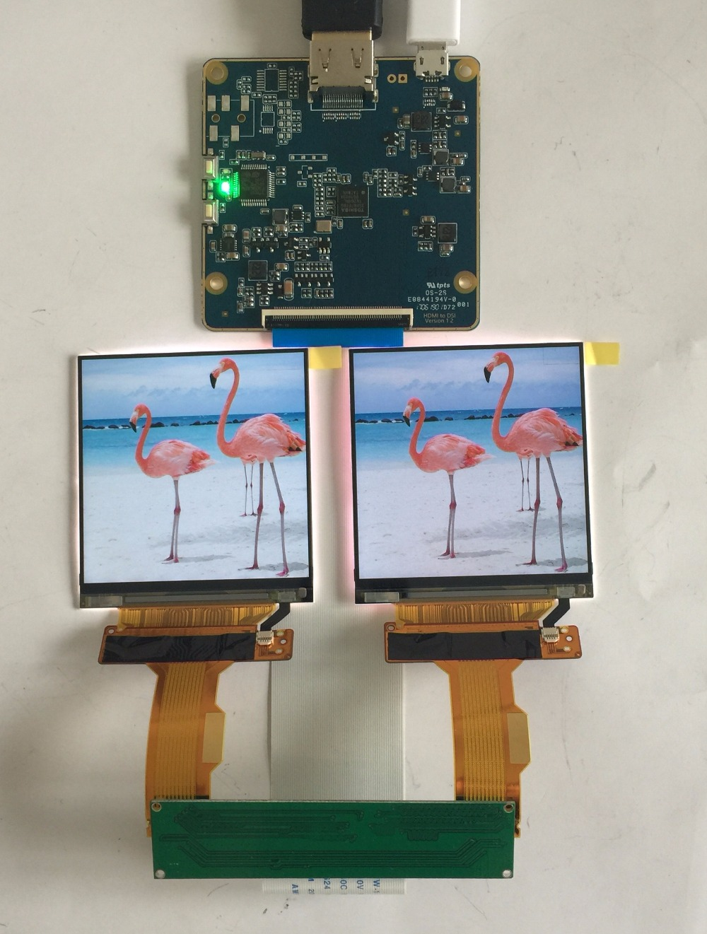 2.9 Inch 2K 1440*1440 120Hz Dual LCD Screen DP To MIPI Driver Board Monitor For AR VR MR HMD Headset Display LS029B3SX02