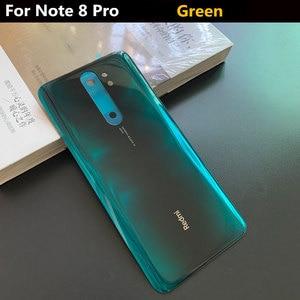 Image 2 - Originele Glas Telefoon Behuizing Case Batterij Cover Voor Xiaomi Redmi Note 8 Pro Onderdelen Batterij Back Cover Deur Gratis verzending