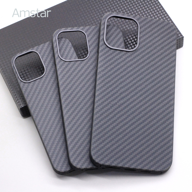 Amstar Real Carbon Fiber Phone Case for iPhone 12 Pro Max Ultra Thin Anti-fall Carbon Fiber Hard Cover Cases for iPhone 12 Mini 1