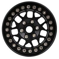 """INJORA 4PCS 1.9"""" Metal Beadlock Wheel Hub Rim for 1/10 RC Crawler Car Traxxas TRX4 Axial SCX10 90046 AXI03007 RedCat Gen8 4"""