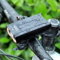 Neue Stil Fahrrad Licht Aluminium Legierung USB Lade Scheinwerfer Reiten Lichter Ausrüstung T6 Fahrrad Scheinwerfer Taschenlampe-in Fahrradlicht aus Sport und Unterhaltung bei