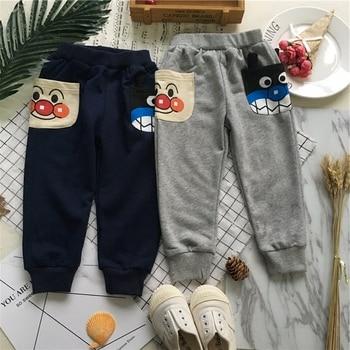 Tonytaobaby Spring and Summer New Boys and Girls Cartoon Big Pocket Casual Long Pants  Toddler Pants