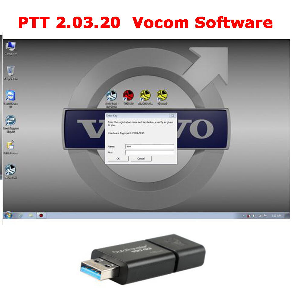 PTT 2.03.20 For 88890300 Vocom Software Pre-installed In 16GB USB Flash Drive Ready To Use Free Activation One Time