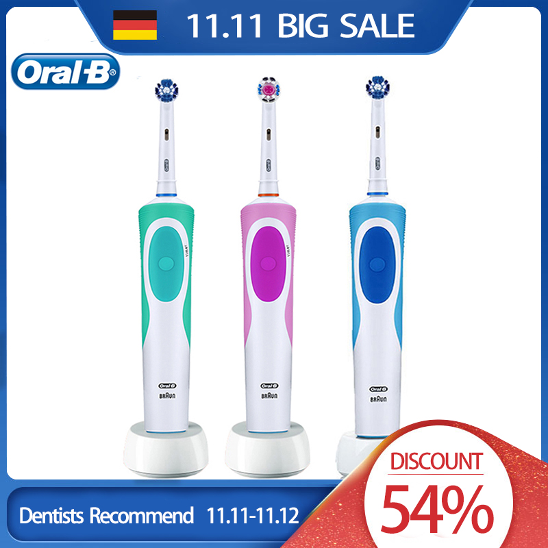 Oral B Vitality Electric Toothbrush Rechargeable 360 Rotating Deep Clean Teeth Replacement Brush Head