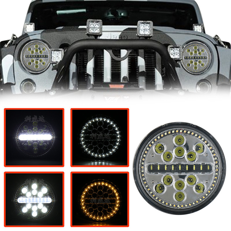The Vectra Ultra-thin Led Car Light 63 W Automobile Motorcycle Performance Light 7 Inch Jeep Wrangler Headlight
