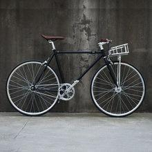 Vélo à vitesse unique noir 700C vélo à pignon fixe piste vélo de route vélo de route 52cm fixie vélo cadre inlcude panier
