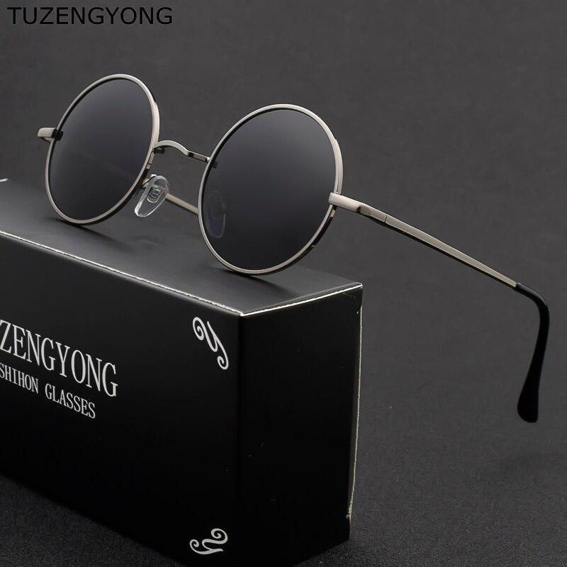 Classic Round Unisex SteamPunk Style Polarized Men Metalwork Spring Sunglasses