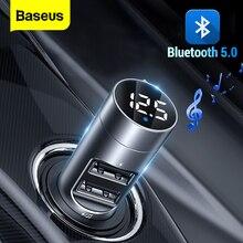Cargador de coche Baseus Bluetooth transmisor inalámbrico FM modulador 3.1A Dual USB cargador de coche cargador de teléfono móvil para iPhone Samsung