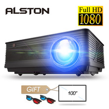 Alston M5 M5W Full HD 1080P Proyektor 4 KB 6500 Lumen Cinema Projector Proyektor Android WIFI Bluetooth HDMI VGA AV USB dengan Hadiah(China)