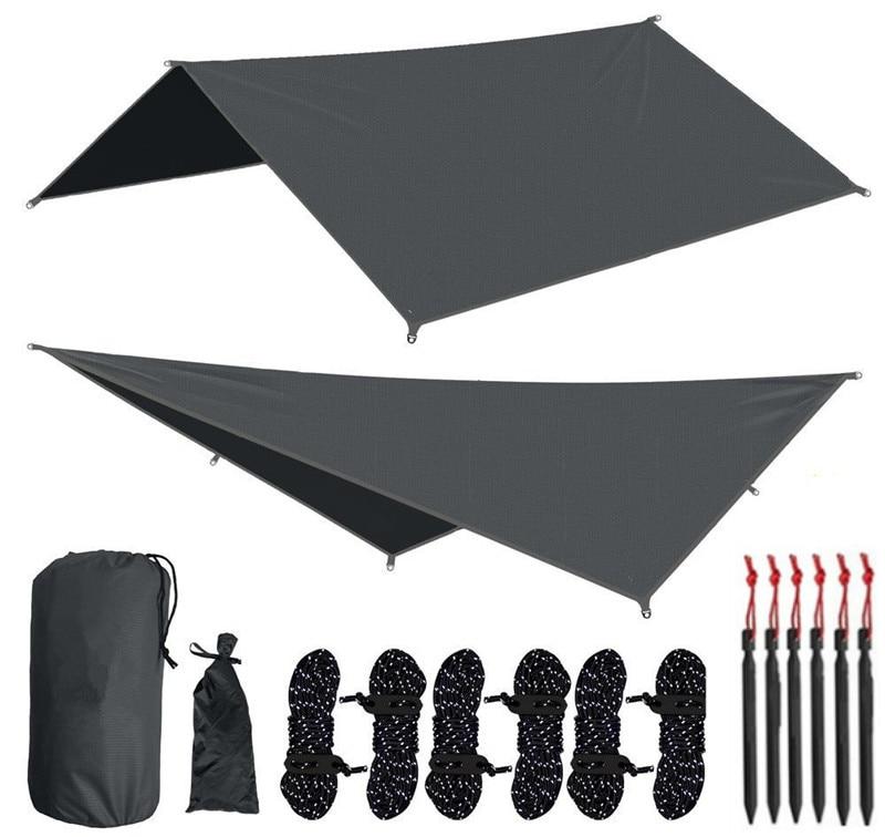 10 X 10 Ft Waterproof Camping Tarp, Rainfly Tent Tarp,Hammock Rainfly,Picnic And Beach Mat,Tent Footprint, And Sunshade,Hiking