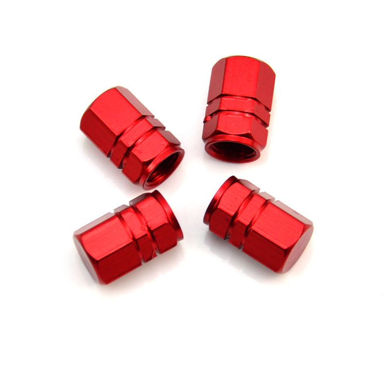4pcs Car Tire Valve Caps Car Tire Gas Cap Truck Tire Wheel Air Valve Caps Tyre Cover Aluminum Alloy Tire Gas Cap