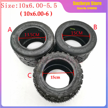 NEW 10 Inch Widened Tire 10x6.00-5.5 Motorcycle Vacuum Road Tire Off-road Tubeless Wheel Tire for Mini-Harley Electric Vehicle