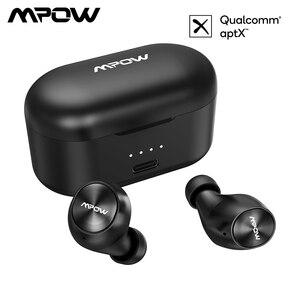 Image 1 - Mpow m8 fones de ouvido sem fio tws aptx bluetooth 5.0 fones com ipx7 à prova dwaterproof água microfone cancelamento ruído para iphone 11 gamer