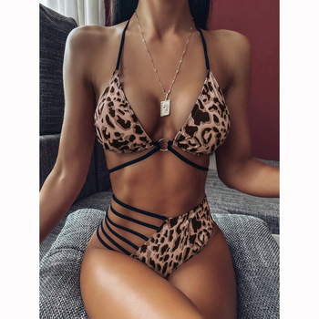 Sexy Bikini 2020 High Waist Swimsuit Women Swimwear Bathing String Bikini Set Hollow Out Swimsuit Female Swimming Suit For Women 1
