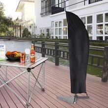 3 tamanhos guarda chuva capa pátio chuva neve dustproof protetor solar cobre móveis ao ar livre