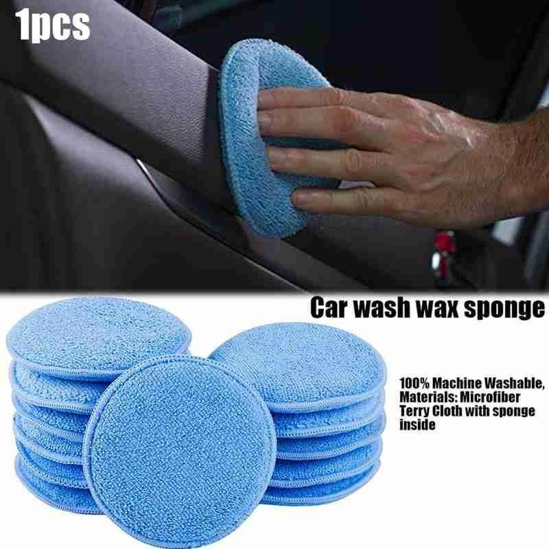 esponja aplicador almofadas esponja veículo espuma cera