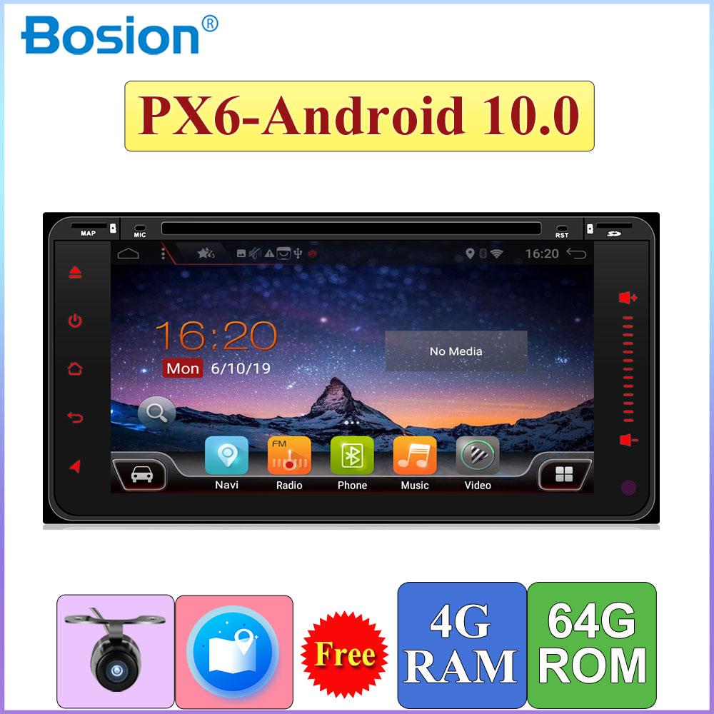 2 Din nawigacja samochodowa GPS z systemem Android 10 dla Toyota Hilux Vios Old Camry Rav4 Prado 200*100MM 4G + 64G Wifi BT samochód DVD Radio Stereo odtwarzacz DAB OBD