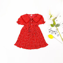 Summer princess dress girl floral  childrens clothing children