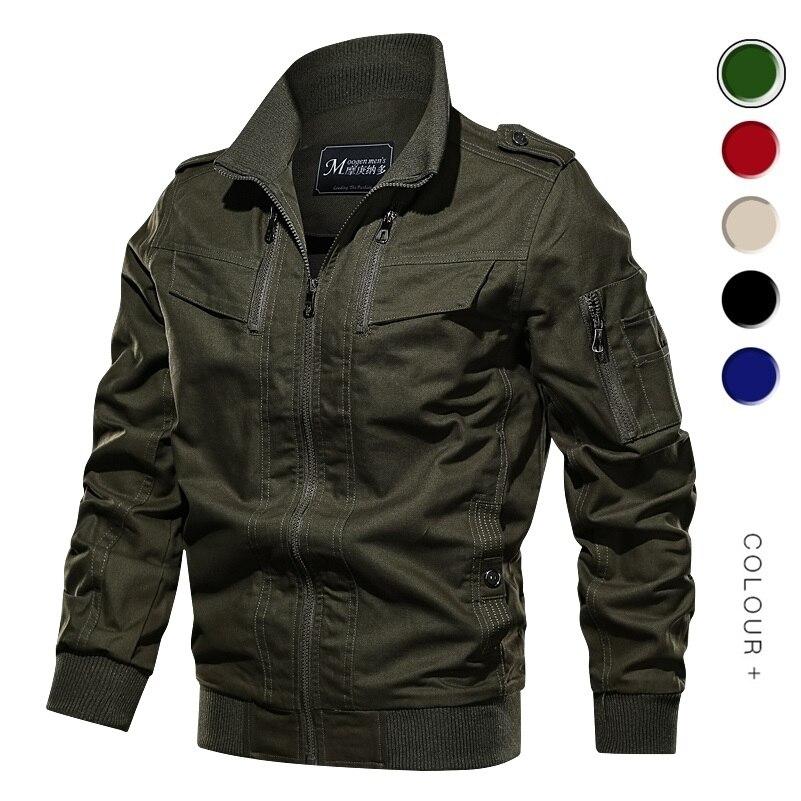 Мужская куртка в стиле милитари, весенне-осенняя хлопковая куртка-пилот, армейская куртка-бомбер, модель 2020, 6XL