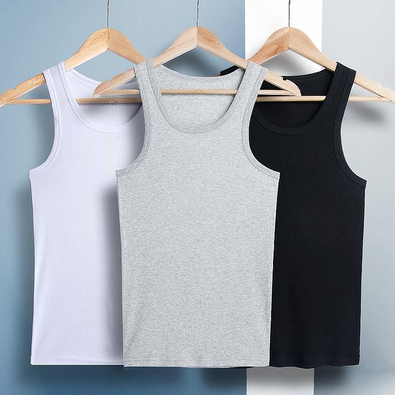 Cotton Undershirt Men Sexy Tshirt Underwear Man Undershirts Underwears Mens Soft Breathable Vest Hombre Ropa 2019 3pcs