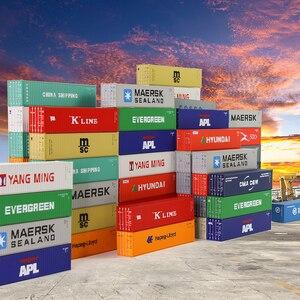Image 1 - 10 шт 40 футовые контейнеры 1:150 контейнер для перевозки с магнитом грузовой автомобиль N Масштаб модели поезда Лот C15008 железнодорожное моделирование