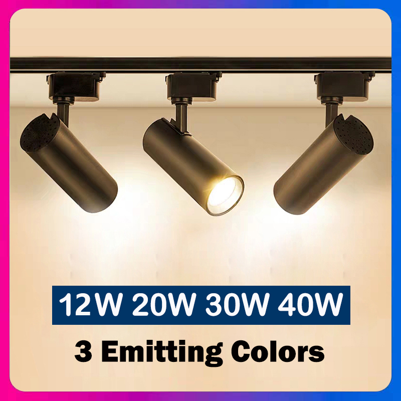 Led Track Light Lamp Fixture 3 Colors Pendant Spotlight Ceiling Light 12W 20W 30W 40W Track Lighting 220V For Clothing Store