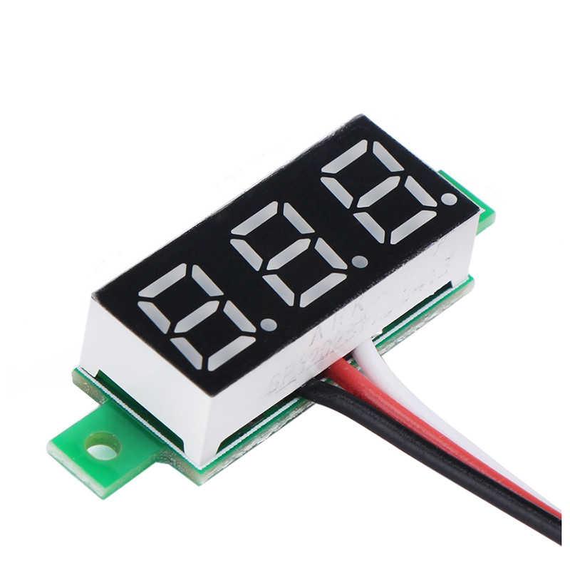 Led Rosso Display Del Pannello Digitale Voltmetro Piccolo 0.36 Pollici Dc 0 ~ ~ 100V 12V Auto Automotive Battery Monitor tester di Tensione Calibro