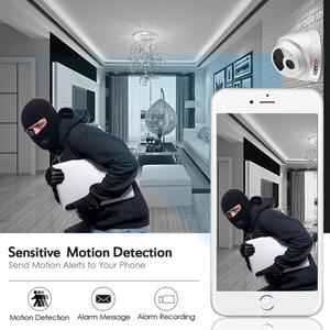 Image 4 - BESDER H.265 1080P 3MP 5MP Security Camera Indoor Dome IP Camera Audio Built in Microphone 48V PoE P2P ONVIF Email Motion Detect