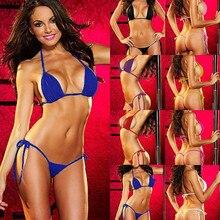 Sexy Womens Micro Thong G string Brazilian Mini Top Bra Bikini Swimsuit Swimwear