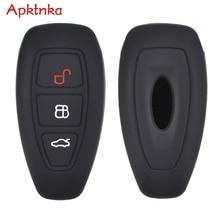 Apktnka 3 Button Silicone Car Remote Key Fob Shell Cover Case For Ford Focus RS Fiesta Mondeo B Max Grand C MAX S MAX Galaxy
