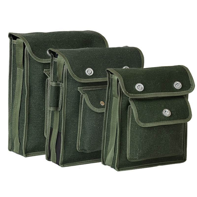 One-shoulder Heavy Canvas Tool Bag for Power Tool Storage Organizer Electrician Accessories Storage Bag Waterproof Case