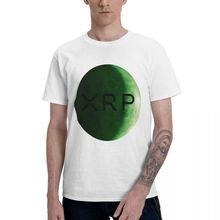 Хпр, зеленая футболка с Луной Графические футболки Для мужчин классический короткий рукав Футболка Забавные топы