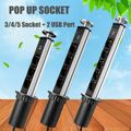 3/4/5 EU Plug Stopcontact Intrekbare Tafelblad Lifting Socket 2 Usb-poort Werkblad Outlet Keuken Tafel stopcontacten