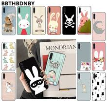 Bunny print Custom Photo Soft fundas Phone Case for Samsung Note 3 4 5 7 8 9 10 pro A7 2018 A10 A40 A50 A70 J7 2018(China)