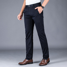 Fashion Male Trousers Man Elastic band Straight Fi
