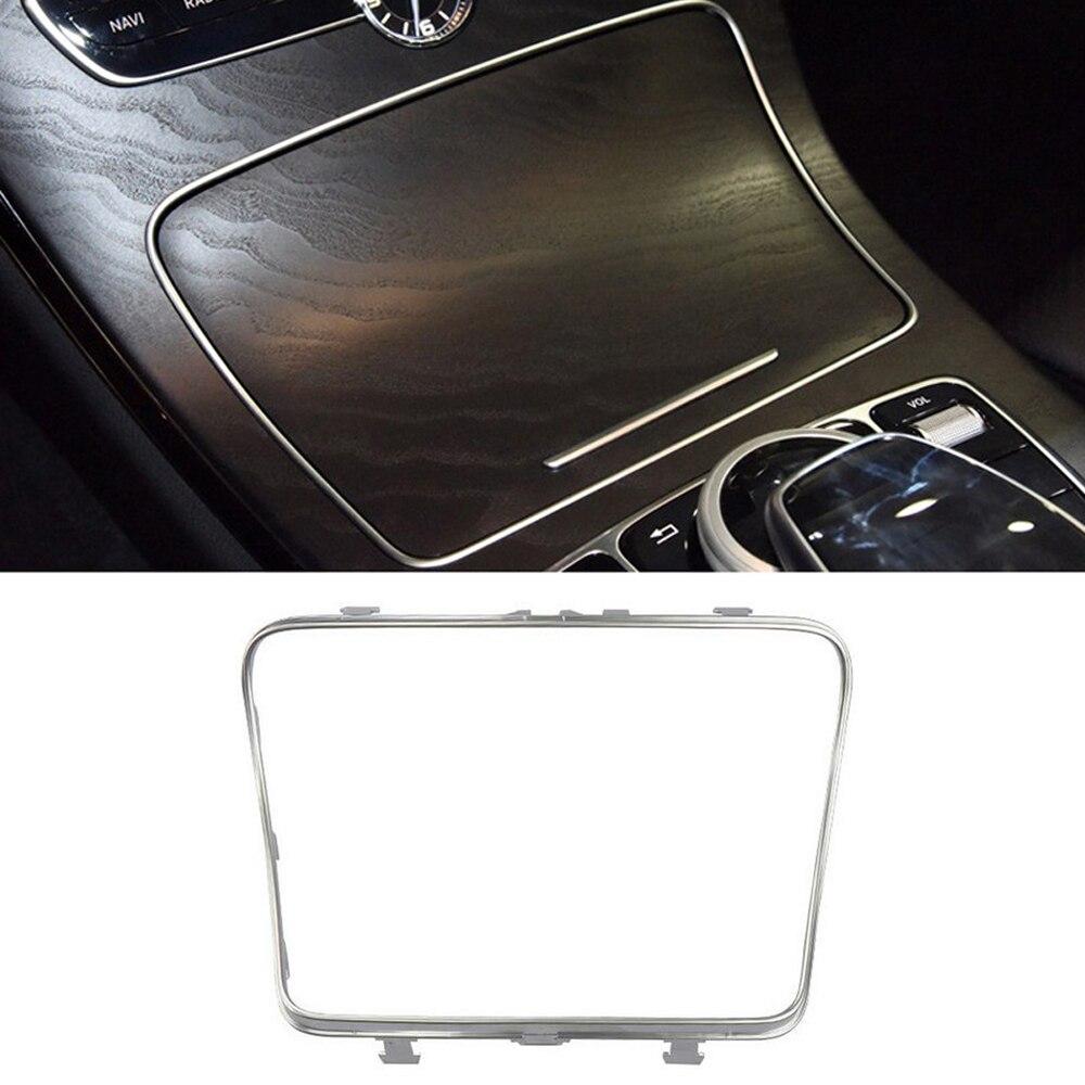 Cup Holder Frame Console Trim For Mercedes-Benz C E Class W213 GLC200 2015-2019