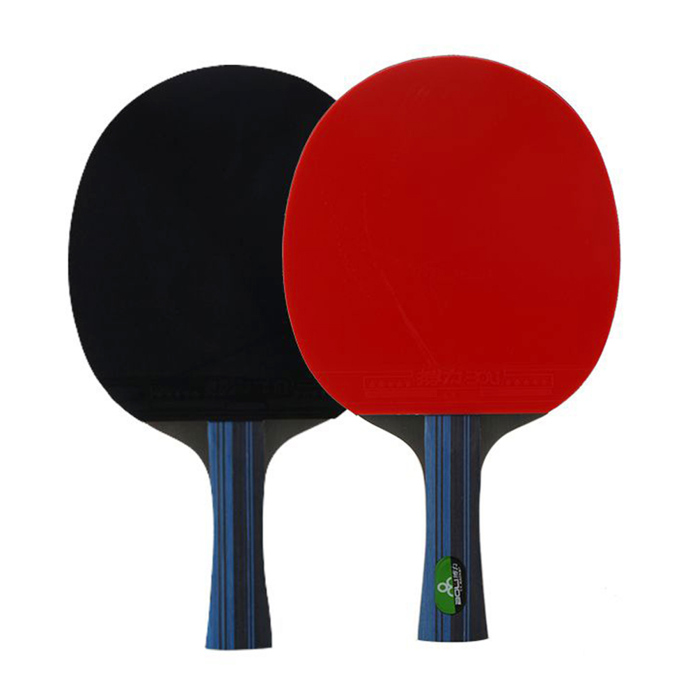 Training Teenagers Bat Powerful Professional Rubber Long Short Handle Students Table Tennis Racket Set With 3 Balls Sport Paddle