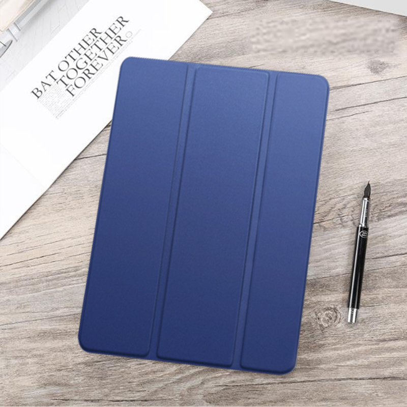 Navy Blue Blue Funda For iPad Air 4 2020 10 9 PU Leather Trifold Stand Case For iPad Air4