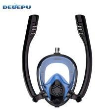 Dedepu Анти туман Полное Лицо Маска для дайвинга набор дыхательных