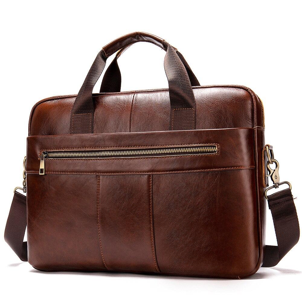 Men Genuine Leather Business Handbag Shoulder Bags Messenger Bags Briefcase Bag