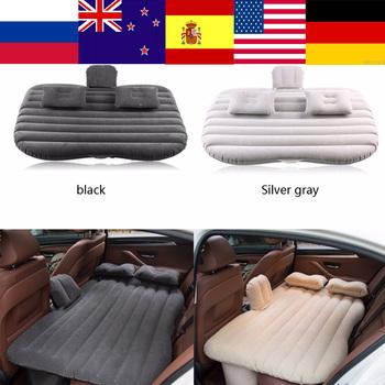 Zamorski samochód łóżko nadmuchiwane tylnym siedzeniu materac Airbed dla odpoczynku sen podróży Camping Sofa dmuchana poduszka akcesoria samochodowe tanie i dobre opinie CN (pochodzenie) Black Silver Gray (optional) 136cm 53 5in 85cm 33 4in 13cm 5 11in car bed car mattress matelas gonflable