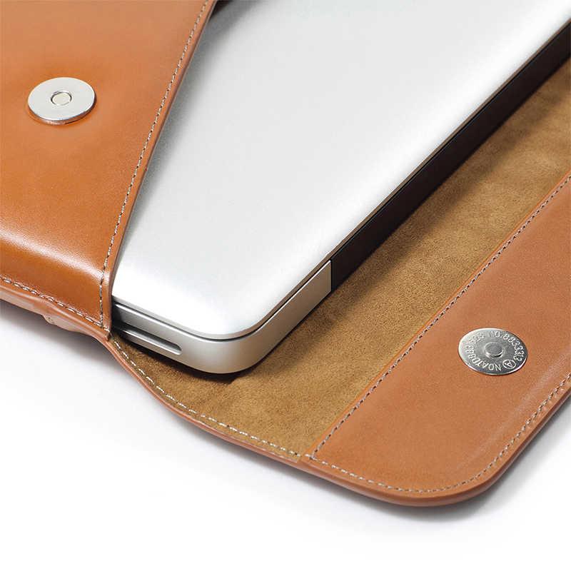 Pochette pour ordinateur portable en cuir étui pour macbook Air 13.3 Pro 15 Retina 11 12 13 14 15.6 pouces sac pour nouveau Mac Air, iPad Pro 12.9, ordinateur portable