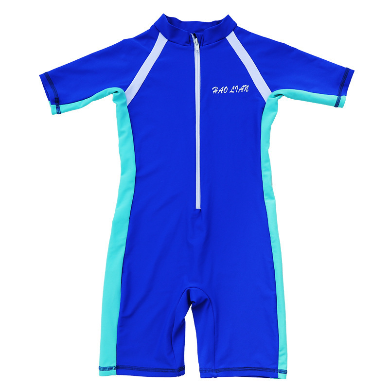 New Style KID'S Swimwear GIRL'S And BOY'S One-piece Small CHILDREN'S Big Boy Students Parent And Child Conservative Industry Tra