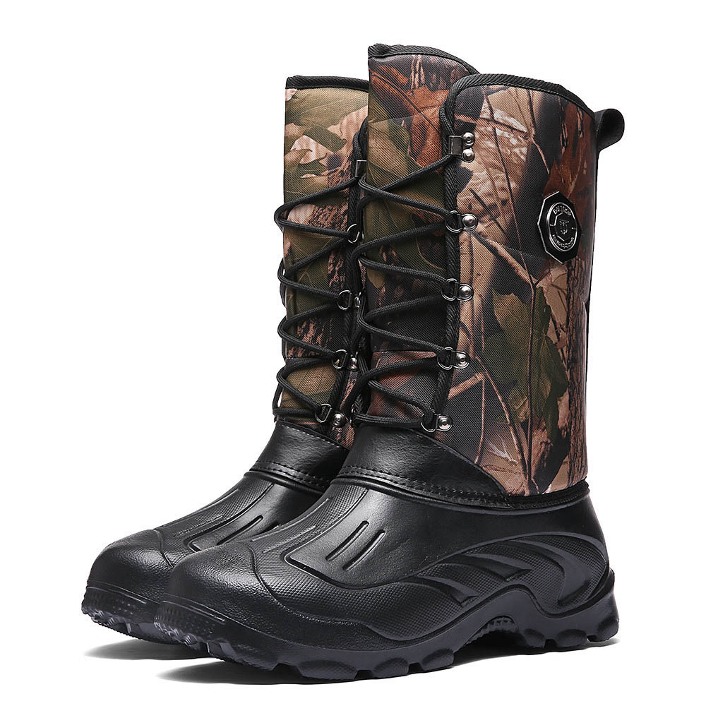 Outdoor Hiking Shoes Men Camo Army Tactics Boots Hunting Boots Men Climbing Trekking Shoes Nonslip Waterproof Rain Fishing Shoes