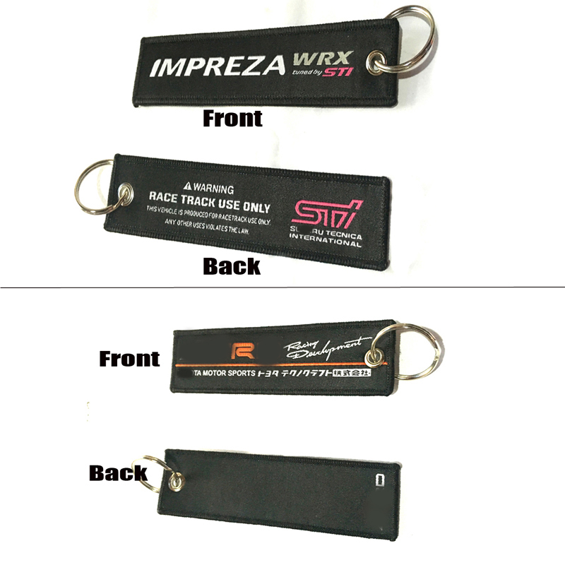 TR* Racing STI Imperza WRX Car Styling Tags Creative Keychain Keyring Souvenir