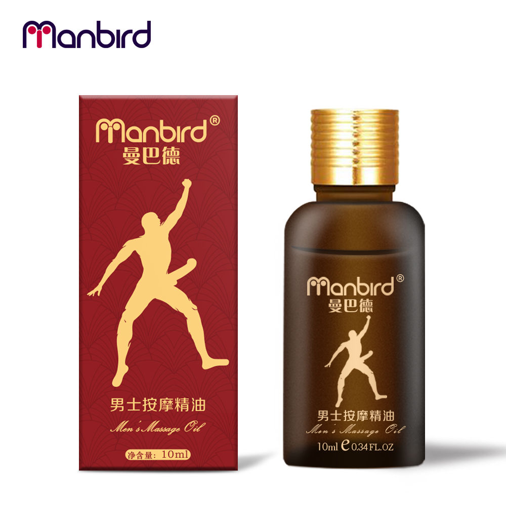 Manbird OIL Natural Plant Extracts Penis Enlargement Thickening Massage Oil 10ml