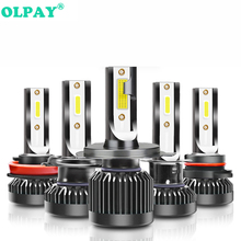 OLPAY H4 H7 LED H1 H3 H8 H11 HB3 9005 HB4 9006 H27 880 881 Bulbs Mini Car Headlight Lamp 12000LM 100W Auto Headlamp 12V 24V