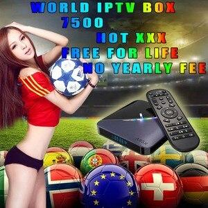 World Live IPTV 7500 +local Free Sports Adult Xxx For Tv Box Ssmart Android Tv Box Ssmart Tv Pc m3u Local Liee Tv Movistar(China)