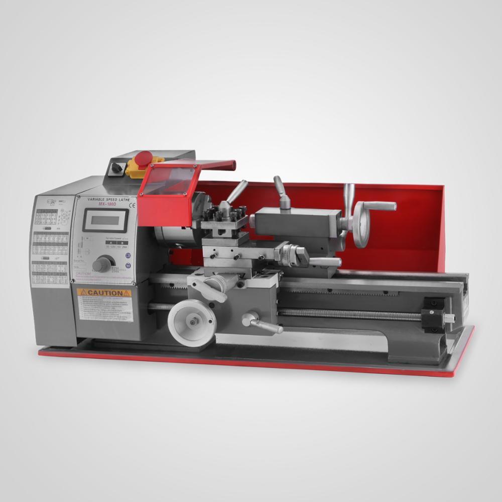 Free Shipping Mini Metal Turning Lathe Metalworking Woodworking Bench Top 2500RPM Digital MX-180 Lathe